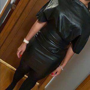 ASOS Black Faux Leather Mini Dress